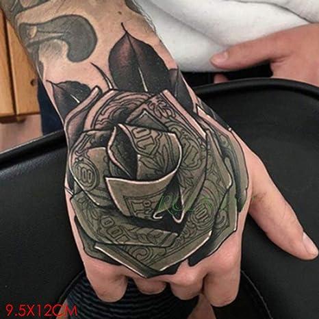 3 Unids-Etiqueta engomada del Tatuaje Impermeable Lobo Luna ...