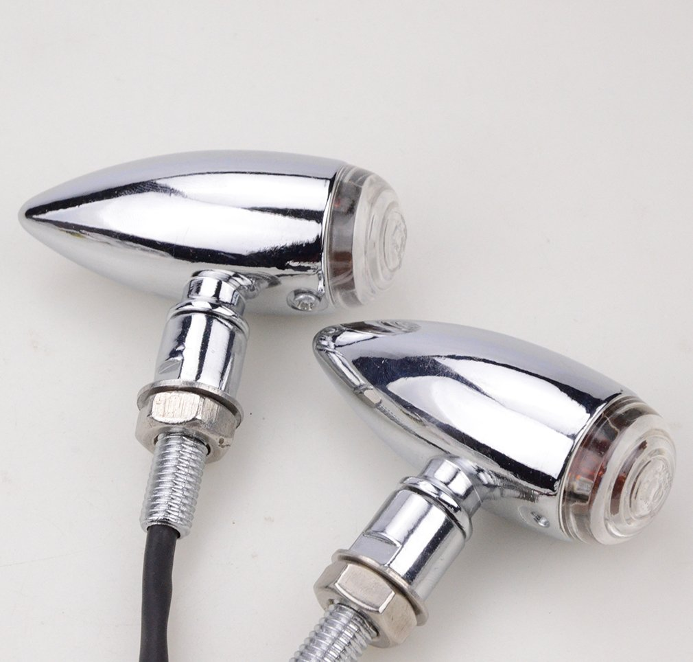 GOOFIT Universal Bicycle//Plastic Chrome/ /LED Turn Signal Light Indicator for Motorcycle Scooter ATV
