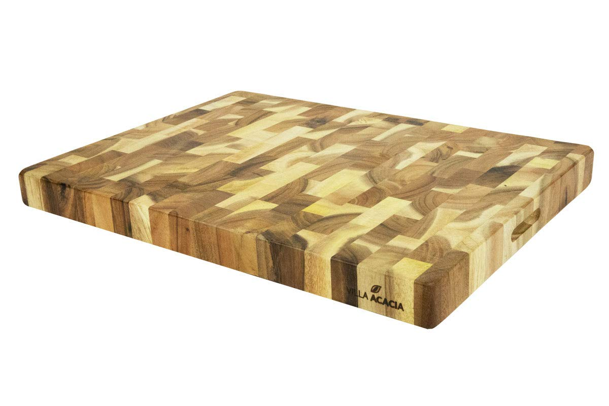Villa Acacia Extra Large Butcher Block - 24x18 Inch, 2'' Thick