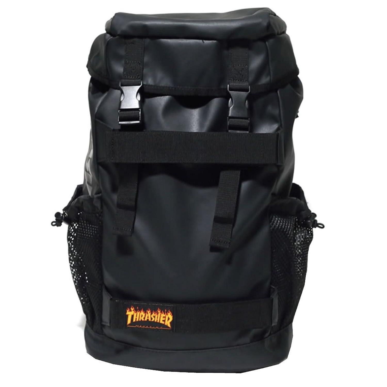 THRASHER スラッシャー リュック バックパック 大容量 メンズ THRPN8900 b系 ストリート系ファッション B07196ZGCK  ブラック