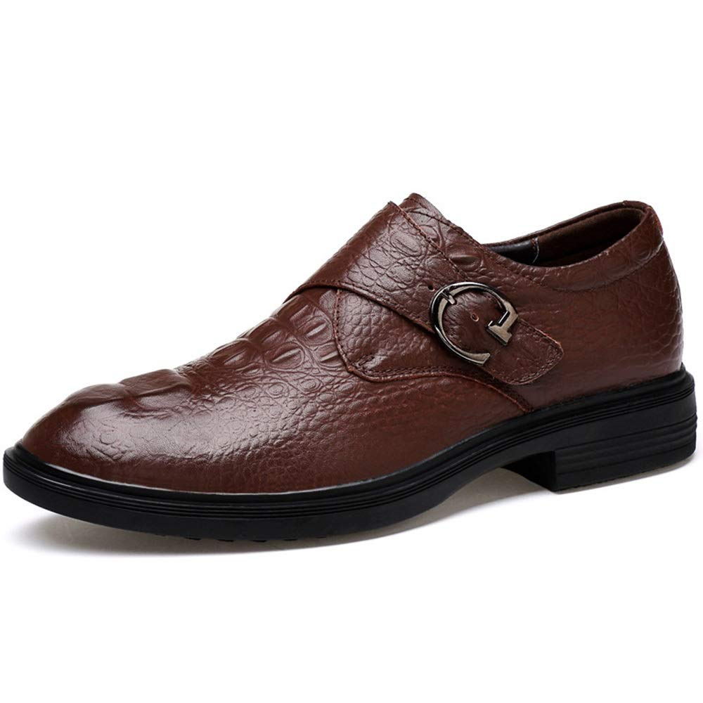 Fashion First Layer of Leather shoes Men's shoes, Business Casua shoes, Men's Boots (color   Brown, Size   43)