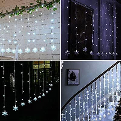 Curtain Lights, Tofu 60 LED 6.6ft string Light, Starry Curtain String Lights for Indoor Bedroom, kids Room,Window,Wedding, Party, Furniture
