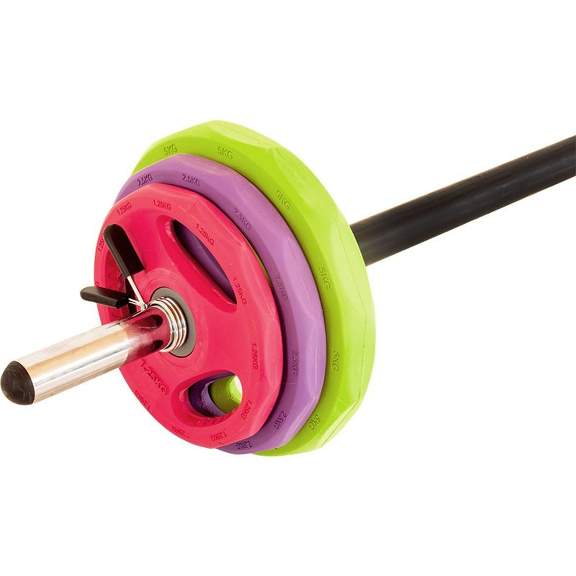 Aerobic Langhantelset Gummi-Gripper - Bunt   Pump Set 18,5 kg