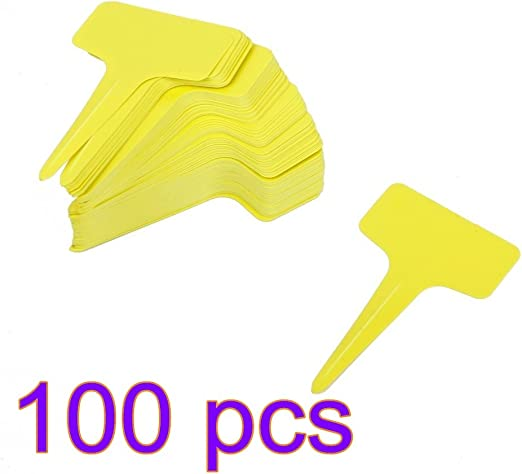 ankko 100 unidades T Forma de plástico etiquetas Plantas de Jardín ...