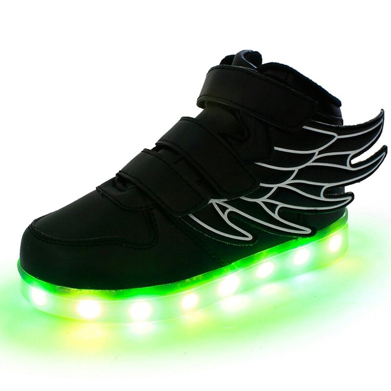 870dff434c152 Padgene Chaussures Enfants Garçon Fille Basket LED Lumineuse 7 Couleurs  Clignotants USB Rechargeable Securité Mode Haut Dessus Taille