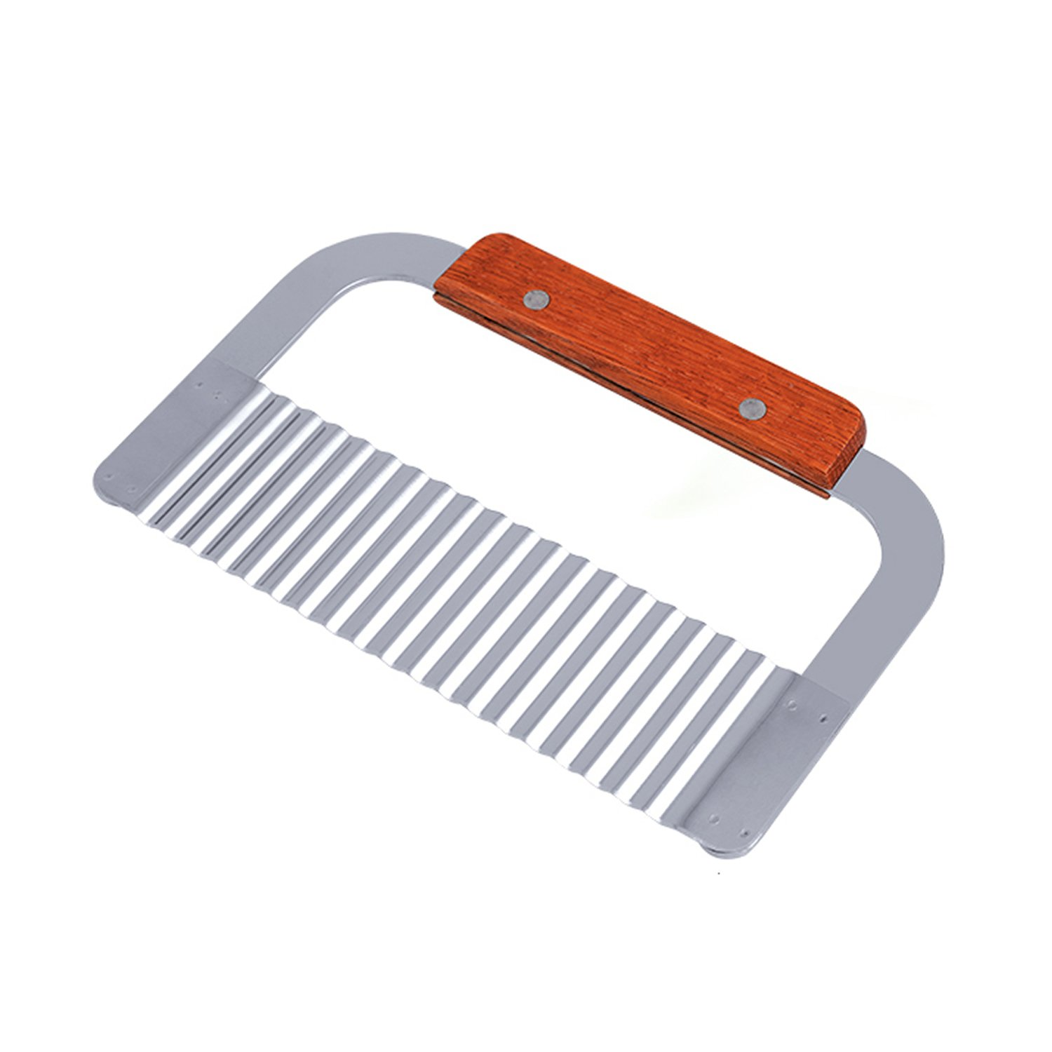 HAPPYNUTS Wavy Slicer and Wavy Vegetable Cutter 7-Inch Stainless Steel Wavy Crinkle Cutter Vegetable Carrot Potato Chip Chopper GIVESURPRISE UK LTD
