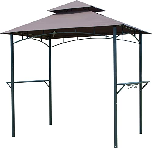 Gaier Barbecue Grill 8'x 5'Gazebo 2-Tier BBQ Canopy Tent Coffee Shelter