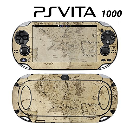 Skin Decal Cover Sticker for Sony PlayStation PS Vita (PCH-1000) - LOTR Middle Earth Map -  Decals Plus