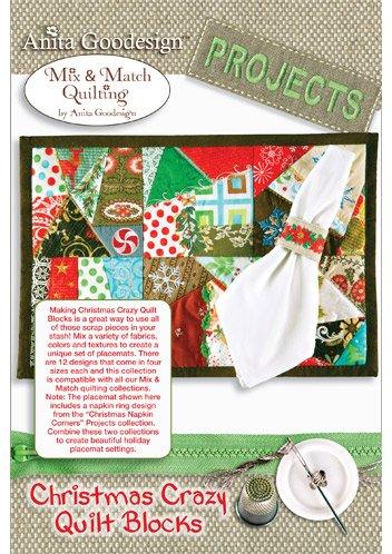 Amazoncom Anita Goodesign Christmas Crazy Quilt Blocks