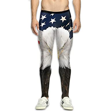 432d12ad0a674c American Bald Eagle Men's Joggers Sweatpants Tights Fitness Yoga Pants  Leggings Trousers White