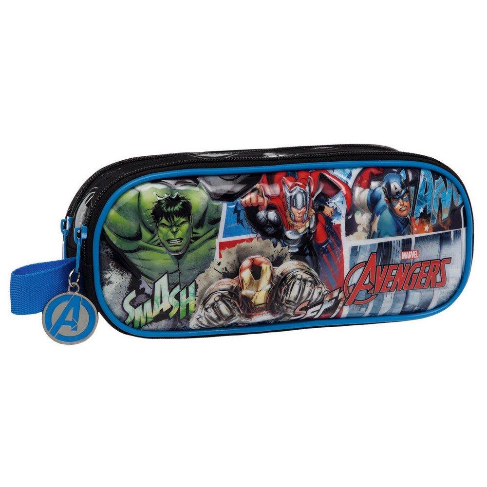 Marvel Avengers Street Neceser de Viaje, 1.45 litros, Color Azul 2434251
