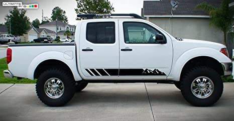 Nissan Frontier Stripes >> Amazon Com 2x Decal Sticker Vinyl Side Stripes Compatible With