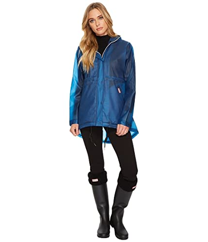 Hunter WOMENS ORIGINAL vinilo Smock–azul marino (Man-Made) accesorios ropa