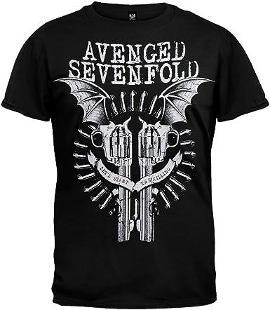 Avenged Sevenfold – negro bate Guns camiseta: Amazon.es: Ropa ...