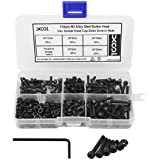 M3 Alloy Steel Hex Socket Head Cap Screws Nuts Assortment Kit, Allen Wrench Drive, Precise Metric Bolts and Nuts Set…