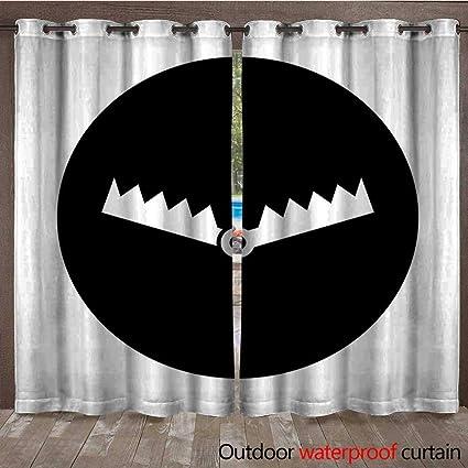 Amazon com : BlountDecor Grommet Curtain Panel Trap Circle