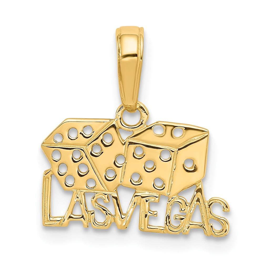 14k Las Vegas w/Dice Pendant