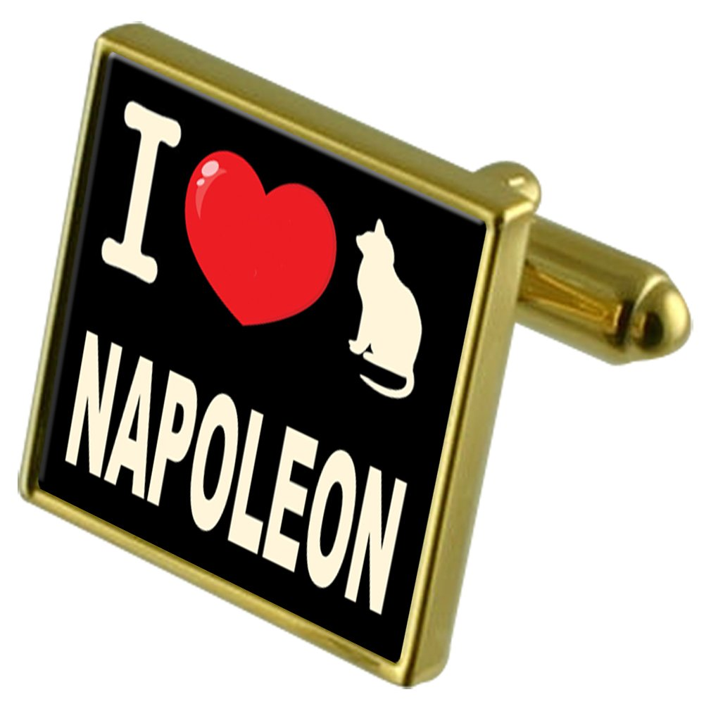 Select Gifts I Love My Cat Gold-Tone Cufflinks Money Clip Napoleon