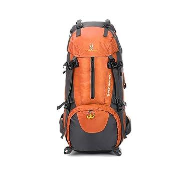 AireLibre - Mochila de viaje para senderismo y acampada extragrande, 60 l, naranja: Amazon.es: Deportes y aire libre