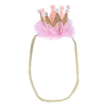 Elastisch Tiara Spitze Blumen Haarband Baby-Stirnband Krone