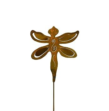 Amazoncom Oregardenworks Artisan Crafted Rusty Metal Dragonfly