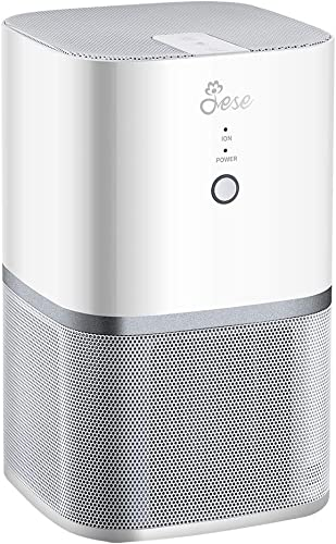 Jese Desktop Air Purifier for Home with 4-in-1 True HEPA Filter, Mini Air Purifier CARB Certified Ultra Quiet Air Cleaner Super Quiet for Bedroom