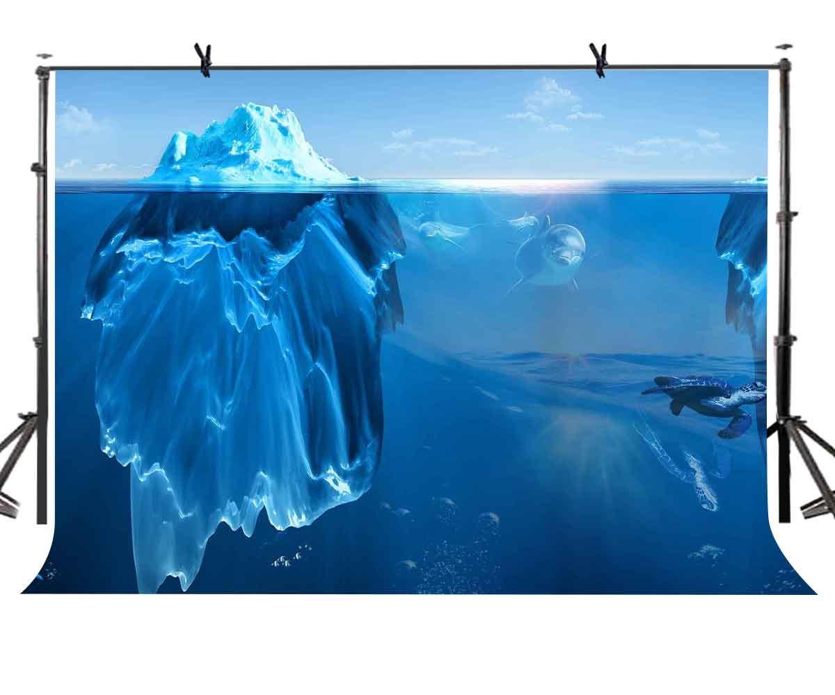 LYLYCTY 7x5フィート オーシャンワールド 背景 南極 Iceberg 海 世界 写真 背景 写真スタジオ背景 小道具 LQLY001   B07D5RDSMC