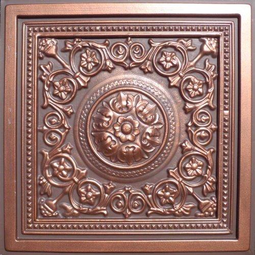 "Majesty Antique Copper Chocolate (24x24"" Pvc) Ceiling Tile"