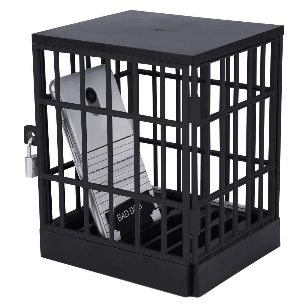 Koolsants Mobile Phone Jail Cell Prison Lock Up Safe Smartphone Home Table Office Gadget Black