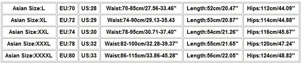 Yomiafy Fashion Mens Casual Camouflage Printed Zipper Pocket Elastic Cord Overalls Shorts
