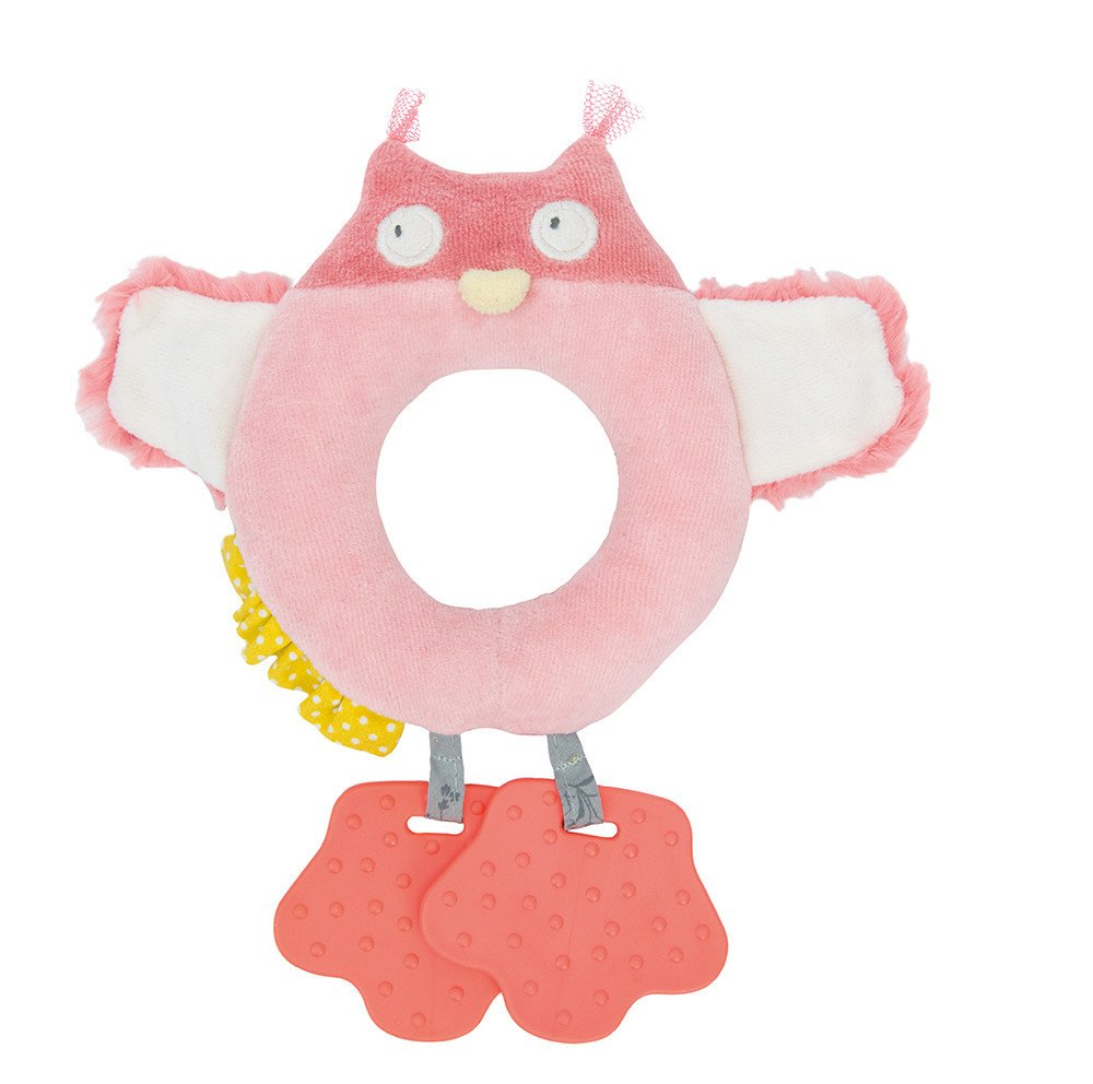 Moulin Roty 's – Owl Ring Rattle with Teethers   B00KTN1P48