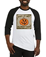 CafePress - My Halloween T-Shirt Baseball Jersey - Cotton Baseball Jersey, 3/4 Raglan Sleeve Shirt