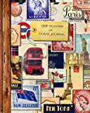 """Trip Planner & Travel Journal: Vacation Planner & Diary for 4 Trips, with Checklists, Itinerary & more [ Softback Notebook * Large (8"""" x 10"""") * Vintage Collage ] (Travel Gifts)"""