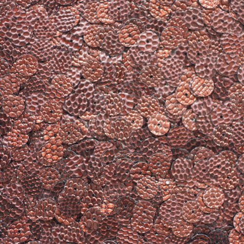 Bronze Metallic Lizard - 8mm Flat Round SEQUIN PAILLETTES ~ BRONZE Metallic Snakeskin Lizard Effect Embossed ~ Loose sequins for embroidery, bridal, applique, arts, crafts, and embellishment. Made in USA.