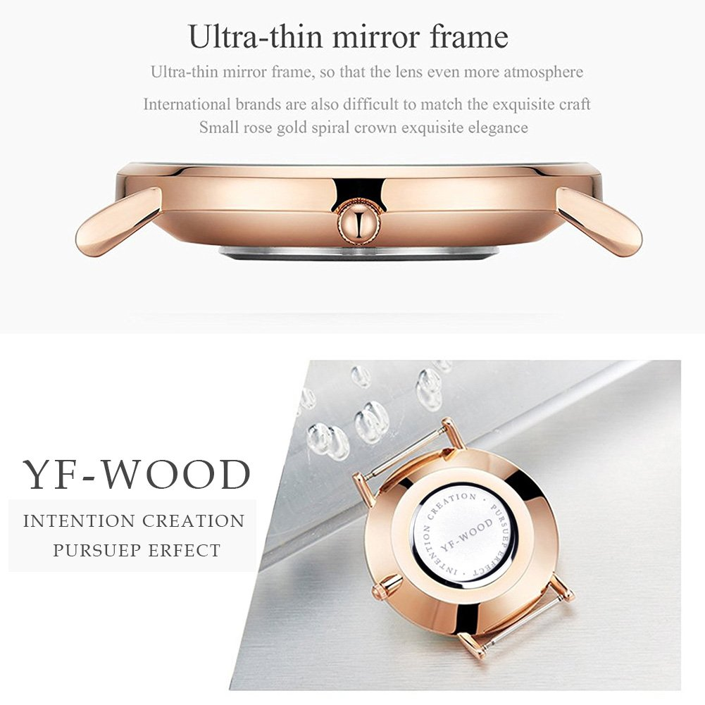 Quartz Watch Nylon Band Unisex Wrist Watch Classic Casual Waterproof Watch Round Dial Business Watch by THAITOO (Image #4)