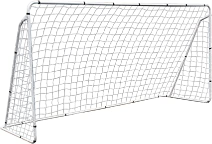 Details about  /Portable 12 x 6/' Soccer Goal Weather-resistant Net Powder Coated Steel Frame