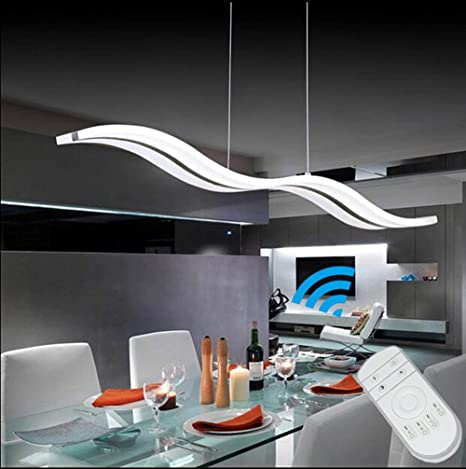 Modern Wave LED Pendant Light Acrylic Chandelier LIUSUN LIULU LED - Led pendant lights for kitchen island