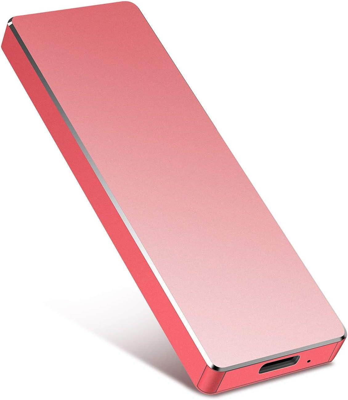 Portable 1TB 2TB External Hard Drive Portable Hard Drive External HDD–USB 3.1 Type C Hard Drive for Mac,PC,Desktop,(2TB-Red)