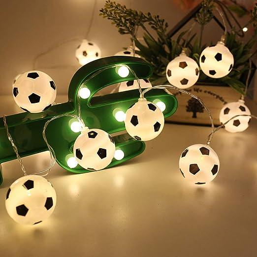 LEDMOMO - Guirnalda de luces LED con forma de balón de fútbol ...