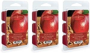 CANDLE WARMERS ETC 3-Pack 2.5 oz Wax Melt Tart Brick, Spiced Apple