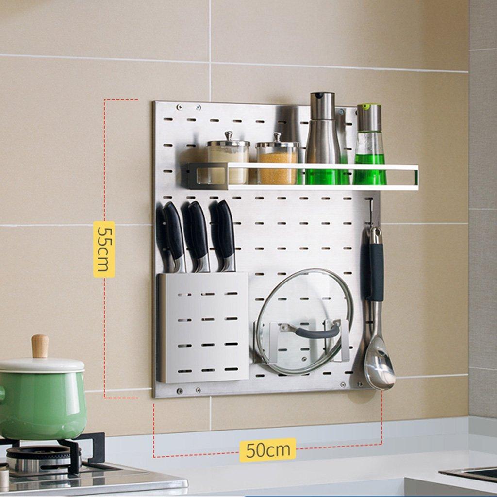 LXLA304ステンレススチールキッチン棚壁に取り付けられた排水皿ラック調味料用品収納ラックハンギングフック多機能シェルフオーガナイザー55 * 50cm ( 色 : Package 2 ) B07BK5K1ZM Package 2 Package 2