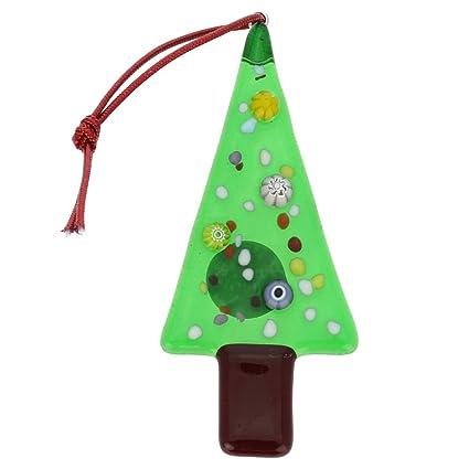 Amazon.com: GlassOfVenice Murano Glass Christmas Tree Ornament: Home ...