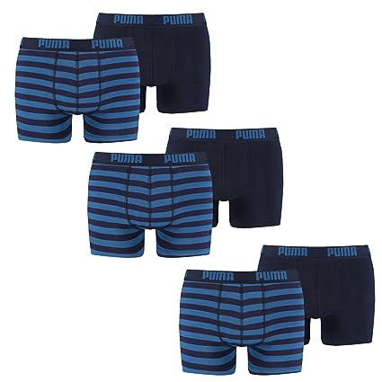 Puma Pack Calzoncillos Boxer Retro Stripe Hombre M Azul