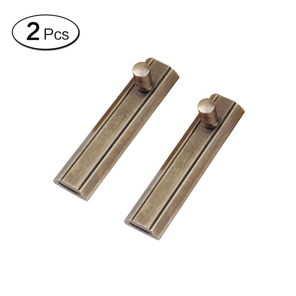 Zhi Jin 2Pcs Retro Brass Barrel Slide Door Bolts Heavy Duty Gate Security Latches Lock Guard Bronze