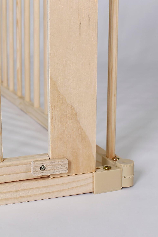 dibea BP00581 Parque de madera a 90x65 cm 68 cm alto Andaderas de Beb/é 6 elementos incl puerta