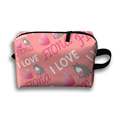 I Love Fiona Portable Capacity Cosmetic Bags Outdoor Case Makeup Waterproof Organizers