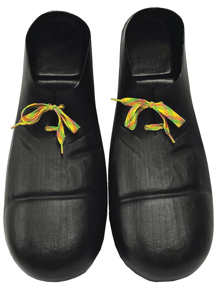 71f1090d0f339 Amazon.com: DISC0UNTST0RE Clown Shoe 16 In Plastic Black Halloween ...
