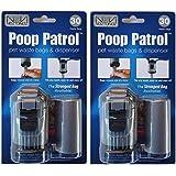 POOP PATROL Pet Waste Bags and Dispenser (2 Pack)