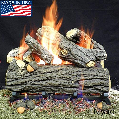 Oak Massive Vented Gas Log - PayandPack Myard 18