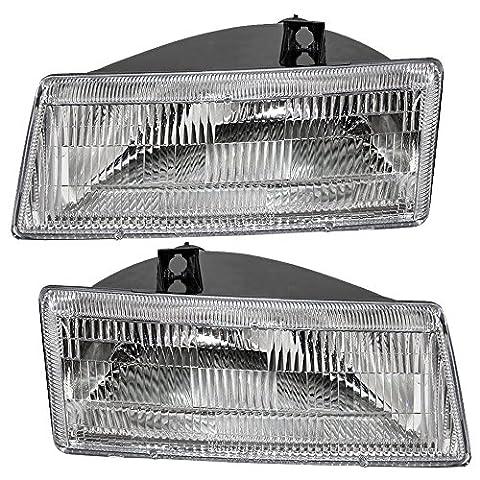 Driver and Passenger Headlights Headlamps Replacement for Dodge Van 4451731 4451730 - Dodge Van Headlight Assembly